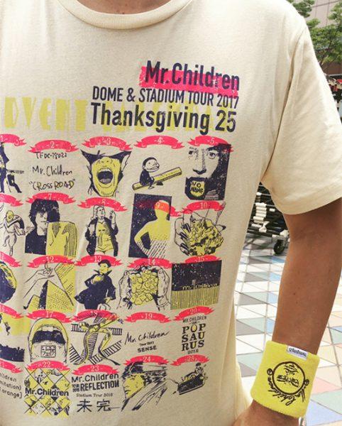 Mr.Children 25周年記念限定Tシャツとリストバンド