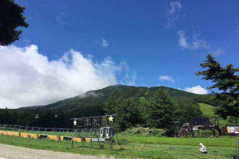朝焼けの安達太良山