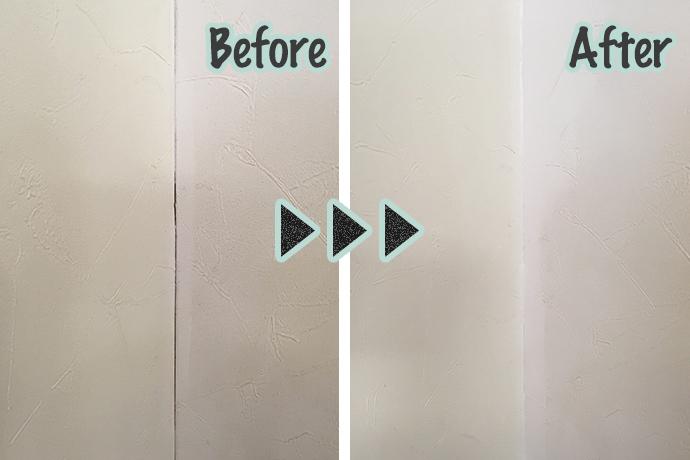 ゼロキューブ(ZERO-CUBE)の壁紙補修ビフォーアフター
