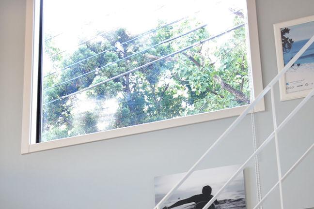 ゼロキューブの窓サッシ
