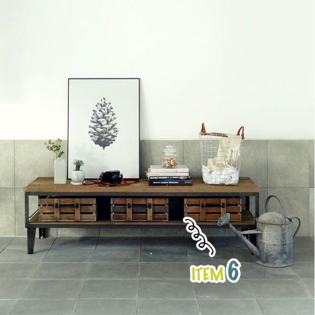 ライフレーベル(LIFELABEL)オリジナル家具 IRONテレビボード