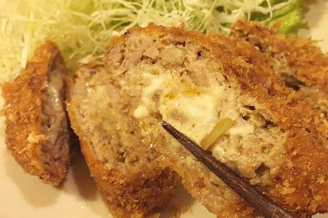 船橋そまる チーズメンチカツ定食