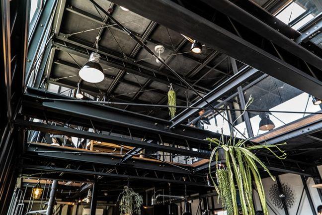 静岡県浜松市バランスデザインDAYTONA HOUSE(デイトナハウス) オフィス兼ショールーム 内観写真天井
