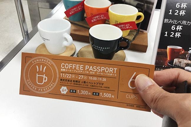 船橋コーヒーフェスティバル 2018 コーヒーパスポート